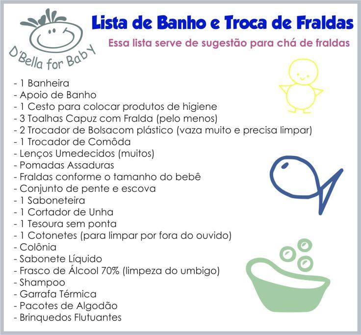 Lista de Enxoval de Bebê - Banho e Trocas