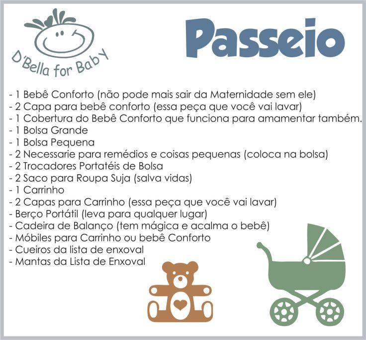 Lista de Enxoval de Bebê - Passeio