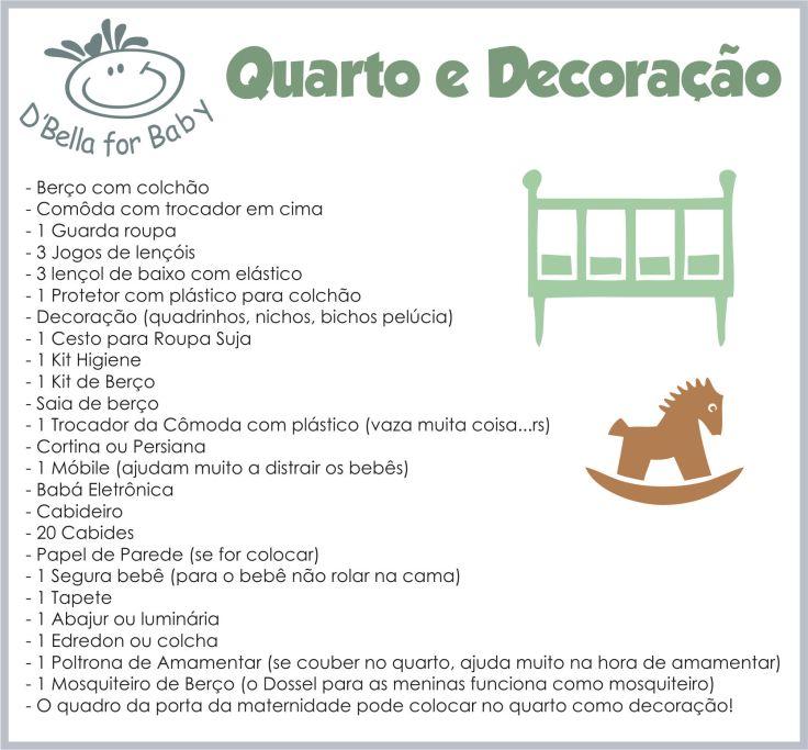 Lista de Enxoval de Bebê - quarto e decoração